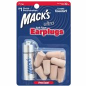 Mack's Ultra 32DB Soft Foam Plugs - 7 Pair Pack with Free Travel Case